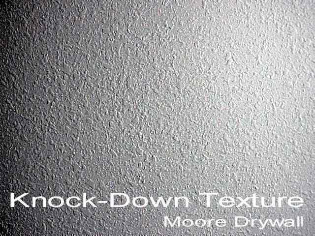 Knock down texture